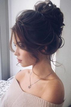 Wedding Bun Hairstyles, Wedding Planning Ideas & More inspiration. Wedding dresses Wedding Bun Hairstyles, Wedding Planning Ideas & More inspiration. Wedding Bun Hairstyles, Hairdo Wedding, Wedding Hair And Makeup, Up Hairstyles, Beautiful Hairstyles, Hairstyle Ideas, Bridal Updo, Messy Wedding Updo, High Bun Wedding