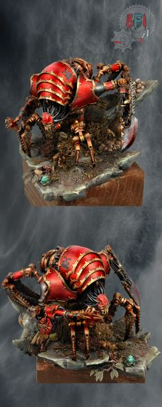 The folks over at Reddit have decided to champion this fellow (Bohun) as the best miniature painter ever! Of course others have favourites... I own this model but I'm not sure when I'll get around to painting my Blood Slaughterer by Forge World
