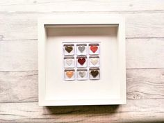 Your place to buy and sell all things handmade Heart Wall Art, Heart Frame, Rainbow Glass, Rainbow Heart, Rainbow Decorations, Heart Decorations, White Box Frame, Color Turquesa, Box Frames