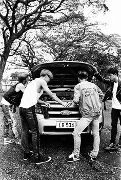 Sehun, Kai, Xiumin, D.O - 170516 Second official photobook 'Dear Happiness' Credit: Moke Najung. Baekhyun Fanart, Chanyeol Baekhyun, Exo Kai, Park Chanyeol, 2ne1, Exo Dear Happiness, Got7, Exo Lockscreen
