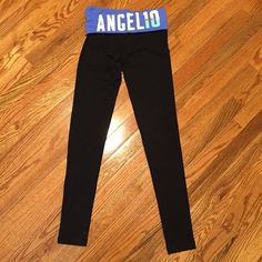 """PINK Yoga Legging Pink Yoga Legging! This is brand new w/o tag. The front logo has an angel wing. The back has a blue logo that says """"Angel 10."""" The reason why I'm selling it is bc it's big on my short body so no body pic. There is nothing wrong with these yoga leggings. Everything is in good condition and brand new! No holes, no marks, no nothing. (Size: XS) No trades, no offers!  Price IS firm! PINK Victoria's Secret Pants"""