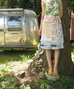 olive summer apron wrap...RESERVED FOR KIM by dottieangel on Etsy, $48.00