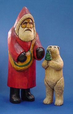 Santa and polar bear