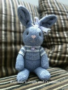 Sock rabbit is my recent project. I did think of making a sock rabbit quite some time ago but never took action to make a try. One day...