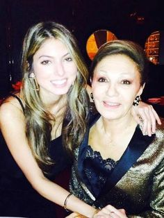 Noblesse et Royautés:  Empress Farah with granddaughter Princess Noor during a recent visit to New York