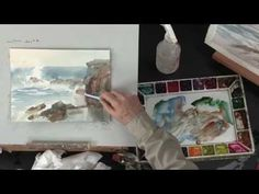Preview Watercolor Landscape Painting Essentials with Johannes Vloothuis here now to learn tips for color mixing for a beautiful range of hues (plus Johannes' favorite colors to use for landscape painting), how to paint wet-into-wet, brushwork for painting trees, a handy way to incorporate pan pastels to add mist and fog to your seascapes, and more. Visit http://ArtistsNetwork.tv for access to the full-length version of this video.