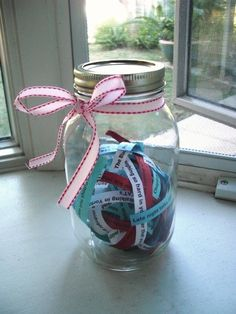 Memory Jar - DIY Christmas Gift Ideas for Best Friend