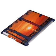 "iPad custom cover titled"" San Diego Sunset"". A copy of a watercolor done by Kirt Tisdale."