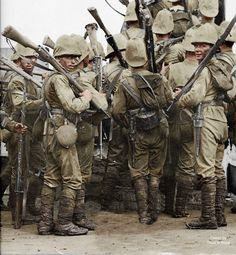 British soldiers at Second Boer War 1899