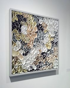 Sculpted canvas and acrylic. 27 x Artists: Jason Hallman, Stephen Stum SOLD – Private Collection Arte Quilling, Paper Quilling Designs, Diy Wall Art, Diy Art, Book Crafts, Paper Crafts, Tableau Design, Book Sculpture, Art Techniques