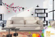 Cherry Blossom Tree Vinyl Wall Sticker by Vinylimpression on Etsy