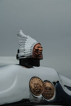 I'm fascinated by the hood ornaments on classic cars.  This was taken on a cloudy, misty day at the AACA Nationals at Hershey, PA
