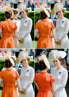 """""""  Crown Princess Mary and The Duchess of Cambridge at Royal Ascot Day Two, June 15th 2016."""""""