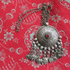 Afghanistan - Kuchi tribal antique silver necklace