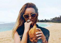 Miu Miu Noir Glitter GOLD!!  ♥ www.oticaswanny.com #oculos #sol #online #shop #moda #ouro #sunglasses