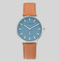 The Classic - Sea Salt Blue / Tan Leather. Australian watch brand