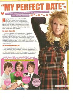 Taylor Swift , Full Page Pinup Clipping