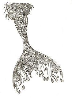 Mermaid tail as a sternum tat …