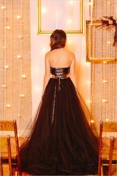 #corseteddress #blackdress @weddingchicks