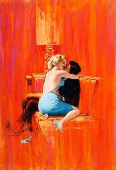 Robert McGinnis // man and woman // illustration // pulp art