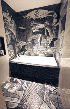 """Pablo Picasso """"Guernica"""" in tecnica artistica. L'opera inizialmente si intitolava """"Lamento en muerte del torero Joselito"""" in onore del torero Joselito. - Pablo Picasso's """"Guernica"""" in artistic technique. The artwork was originally entitled """"Lamento en muerte del torero Joselito"""" in honour of the bullfighter Joselito."""