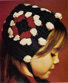 Vintage granny bonnet / hat--free crochet pattern