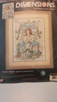 Dimensions Stamped Cross Stitch Kit PEACE ANGEL By Elizabeth Brownd  #Dimensions