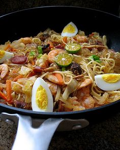Bam-i - a stir-fry of two noodles, a specialty of the Visayan island of Cebu in the Philippines