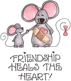 Ilustration by Laurie Furnell I Love My Friends, True Friends, My Love, Gifs, Cute Clipart, Card Sentiments, Kindred Spirits, Get Well Cards, Digital Stamps