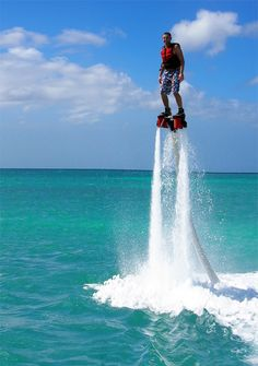 Flyboarding in Aruba #fun #vacation not for me but for the boys