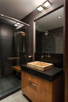 Modern Scientist Residence - modern - Bathroom - Miami - Touzet Studio Room Interior, Interior Design, Bath Remodel, Home Renovation, Powder Room, Modern Bathroom, My Dream Home, Modern Architecture, Future House
