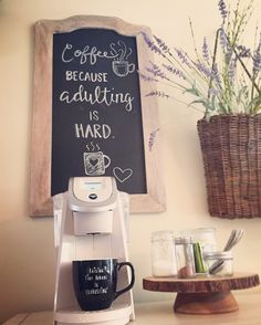 Coffee station chalkboard
