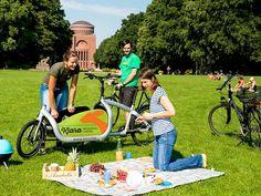 Lastenrad Klara im Stadtpark