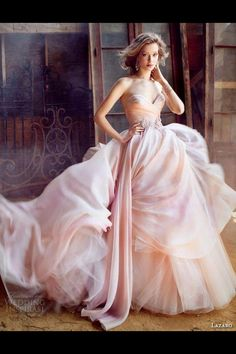Pink and white layers of sheer