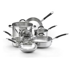 KitchenAid Stainless Steel 10-Piece Cookware Set *** More info could be found at the image url.