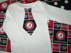 4pc Burp Cloth and Onesie or Tee Alabama by POMPOMSANDPIGTAILS, $23.00