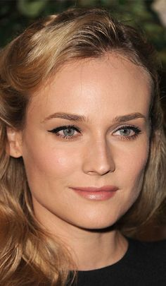 Diane Kruger provides the perfect example on how to capture a more elegant version of winged liner. Wear it with neutral-toned makeup to allow the eyes to stand out, and be sure to see our video on how you can get the classic cat-eye look.