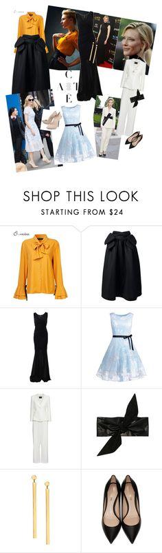 """Style Icons: Cate Blanchett"" by nrspinks ❤ liked on Polyvore featuring Simone Rocha, Chanel, Giorgio Armani, Blumarine, IRO, Lana, Nicholas Kirkwood and Casadei"