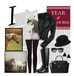 """""""Year Of The Horse"""" by maia23 ❤ liked on Polyvore featuring Aéropostale, MICHAEL Michael Kors, Haflinger, MANGO, STELLA McCARTNEY, Tory Burch, Illesteva, REINHARD PLANK, Finn and yearofthehorse"""