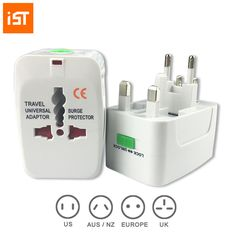 IST Universal Worldwide Travel Wall Charger AC Power Adapter With AU UK US EU Plug And Protection Board Function