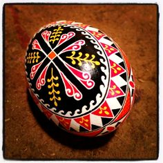 Ukrainian Egg Patterns | ... Ukrainian pysanky (Ukrainian Easter egg) from a regular chicken egg