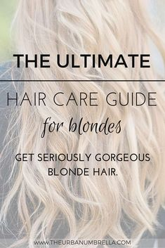 Did you recently go blonde and are trying to figure out how to best care for your blonde hair? Today I am sharing a full Hair Care Guide for Blondes! Healthy Blonde Hair, Blonde Hair Care, Blonde Beauty, Hair Care Oil, Diy Hair Care, Gorgeous Blonde, Gorgeous Makeup, Dark Curly Hair, Thin Hair