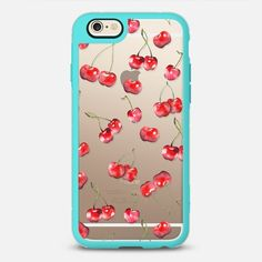 Cherry Pattern - New Standard Case in Teal and Clear by Timone | @casetify