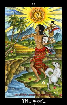 The Bali Tarot Deck * I just want to go on a new adventure! Life is awaiting - free spirit, desire for the new, blazing your own trail, fresh beginnings, naive, instincts, spontaneous, the inner child, sense of wonder. What is around the corner? What new opportunities can I seek out?