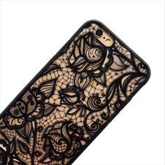 Black Lace Floral Phone Case