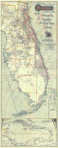 Historical Map of Florida - Old Florida Maps
