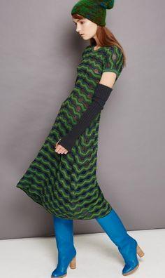 RELIEF RIPPLE DRESS Missoni Fall Winter 2014 2015