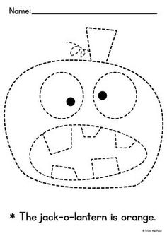 FREE Halloween themed tracing and coloring pages for kids to practice fine motor skills and handwriting. Kids can trace a picture and a word, then color everything in. Great Halloween activity for preschool and kindergarten kids. Theme Halloween, Halloween Crafts For Kids, Halloween Activities, Autumn Activities, Diy Crafts For Kids, Fall Halloween, Preschool Art Projects, Fall Art Projects, Preschool Crafts