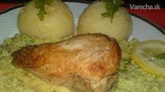 Kuracie prsia dusené na masle na pyré z cukrového hrášku so zemiakovou kašou /fotorecept/