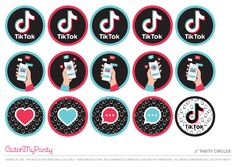 Add these amazing TikTok cupcake toppers to your cupcakes. We have so many to choose from! See more party ideas and share yours at CatchMyParty.com #catchmyparty #partyideas #tiktok #freetiktokprintables Girls Birthday Party Games, My Birthday Cake, Happy Birthday Banners, Free Baby Shower Printables, Party Printables, Diy Cake Topper, Cupcake Toppers, Baptism Party, Party Favor Tags